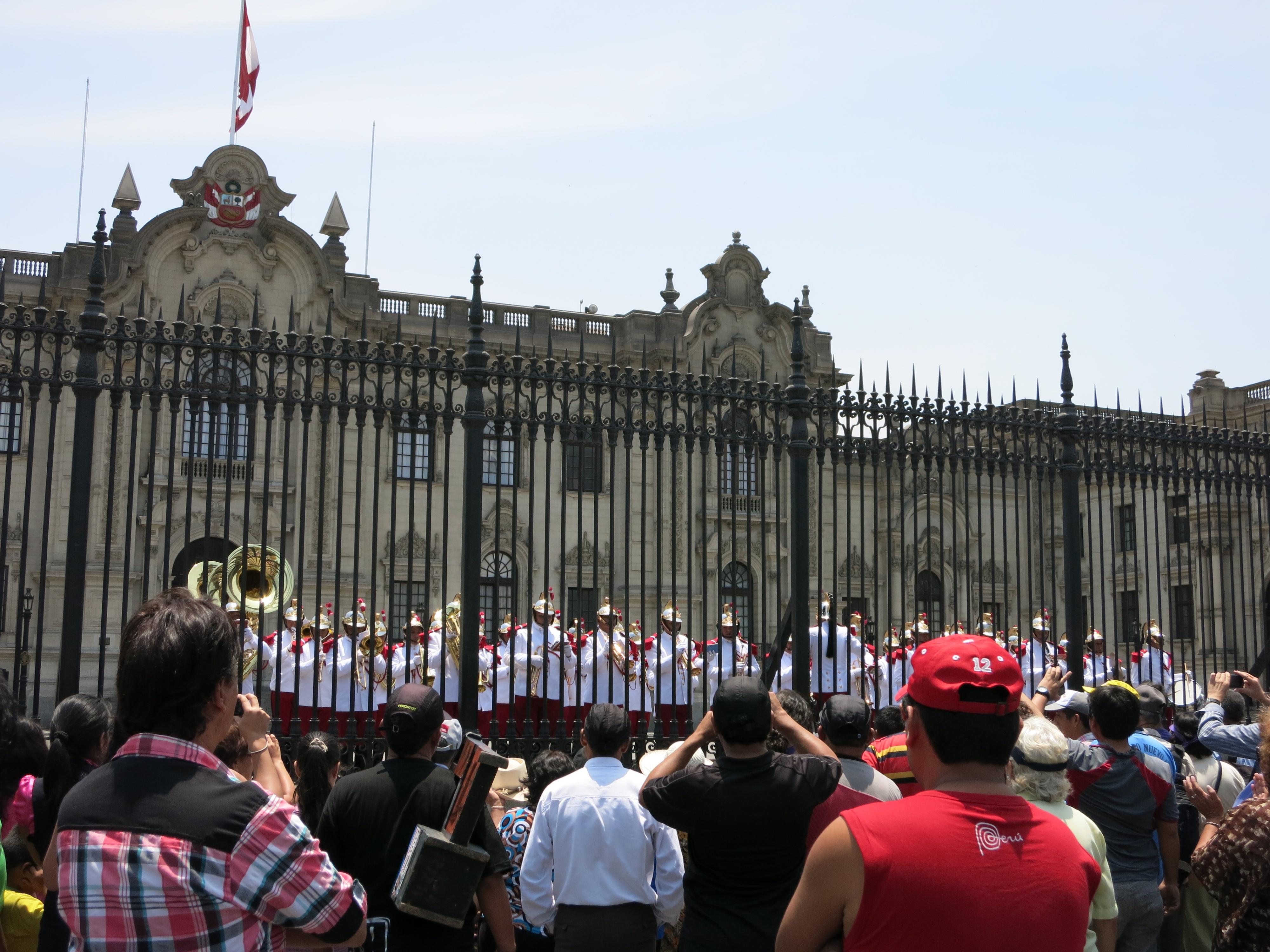 Brass band in Lima, Peru